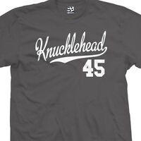 Knucklehead 45 Script Tail T-Shirt - 1945 Bike Motorcycle - All Sizes & Colors