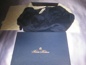 BROOKS BROTHERS WOMENS SIZE LARGE SILK CASHMERE SWEATER SHAWL COLLAR V-NECK NWT