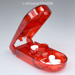 Tablettenteiler Tablettenschneider Pillenteiler Pillenschneider Tabletten - rot