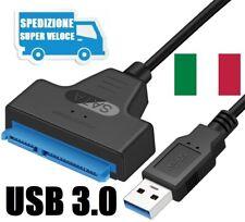 Adattatore USB 3.0 a SATA, Cavo Convertitore SSD/HDD da 2.5 Pollici
