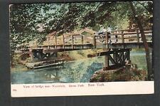1908 View of Bridge near Waterfalls Bronx Park NY to Mildred Morris Solon NY