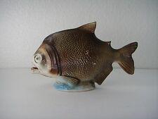 Vintage Pottery Amazon Piranha Fish Figurine Brazil Ceramic Statue Sculpture