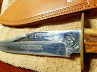 GEO WOSTENHOLM & SON LTD IXLl VINTAGE BOWIE KNIFE SHEATH~ SHEFFIELD ENGLAND Nice