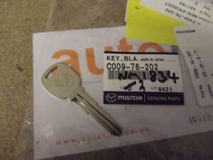 Key blank, genuine Mazda MX-5 mk1, MX5 NA Eunos Roadster valet key, new