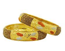 Indian Bollywood Women 22k Goldplated Bangle Bracelet Kada Jewelry Size 2*6,2*8