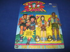 CAPTAIN PLANET & THE PLANETEERS MA-TI & KWAME ACTION 2 FIGURES 1991 NEW MIC