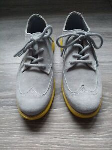 Cole Haan Grand OS Boys Gray Oxford Shoes size 1