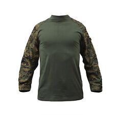 Marines US Woodland Digital Camouflage Combat Usmc Tactical Army Shirt Hemd