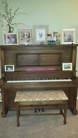 1917-1930 H.C. Bay-Bellmann Upright Player Piano