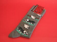 Border Collie Dog & Sheep Men's Socks Grey Agility Farming Father Mother Gift