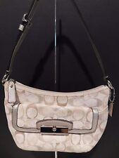 Coach Kristen Signature Sequin Demi Cream/Gray Shoulder Handbag