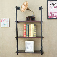 Industrial  Iron Pipe Shelf  Shelving Book Wall Mount Bracket DIY Furniture 🚗