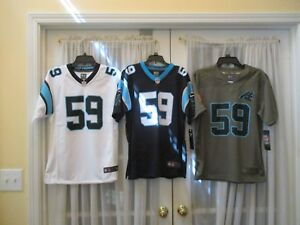 Brand New Luke Kuechly #59 Carolina Panthers YOUTH S-M-L-XL Nike Jersey MSRP $75