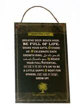 "Advice from a Tree Inspirational Novelty 5.5""x8.5"" Wood Sign Plaque for Wall"