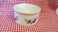 Royal Worcester Bowl Casserole Gold Trim Fruit Evesham 6 3/4 Diam 3 3/4 Tall