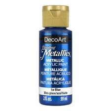 DecoArt Americana Acrylic Metallic Paint Ice Blue