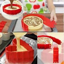 4 Pcs/set DIY Silicone Cake Baking square Round Shape Mold Magic Bake Snakes Z
