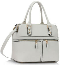 Ladies Shoulder Medium Large Tote Bags Women's Designer Faux Leather Handbags A4