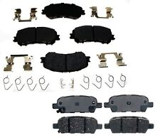 NEW Front and Rear Ceramic Brake Pad Sets Kit ACDelco For Nissan Rogue 2014-2016