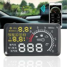 "Universal 5.5"" Car OBD2 II HUD Head Up Display MPH KMH Speed Warning System US"