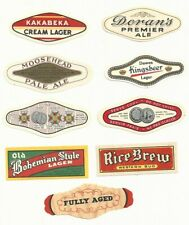9 Different Vintage Canadian Neck Labels - Canada