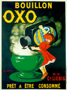 Bouillon Oxo 1911 Cappiello Vintage French Food Advertising Canvas Print 30x40