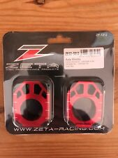 Honda Cr 125 R Cr 250 R 2002-2007 Zeta Eje Cadena Ajustador bloques Rojo