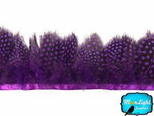 1 Yard - PURPLE Guinea Hen Plumage Feather Trim