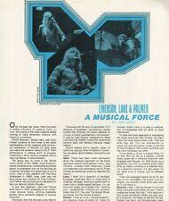 1974 Emerson Lake & Palmer - 3-Page Vintage Article / Interview