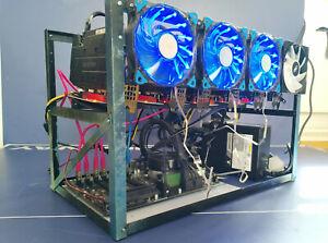 TOTHEMOON 7 GPU Mining Rig WiFi Setup GPU MINING READY UK STOCK NEW