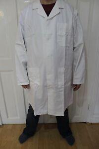 Portwest C851 Lab Workshop Coat 100% Cotton White Size XL Stud Fasteners Unisex