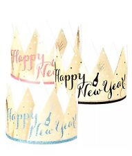 PARTY PARTNERS Gold and Glitter Adjustable Crowns (Set of 6) Various Colors!