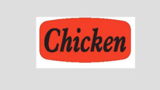 Chicken Labels 1000 Per Roll Great Stickers