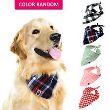 5pcs Dog Bandana Collar Soft Fabric Cat Pet Dog Neckerchief Scarf 5 Colors Mixed