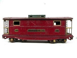Ives # 195 Lionel Transition Standard Gauge Caboose Vintage Train Railway B44-25