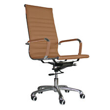 Eames Style High Back Office Chair Tan