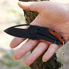 Folding Blade Pocket Knife Wood Handle Grip Camping Hunting Survival Tactical