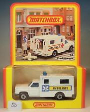 Matchbox Superfast Nr. 41 Ambulance Krankenwagen Deutsche Hösbach OVP #050