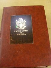 USA MINT & USED STAMPS & STAMP SHEETS IN A 32 PAGE RED ALBUM