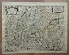 ALSATIA BAVARIA FRANCE GERMANY 1678 ROSSI-CANTELLI DA VIGNOLA LARGE ANTIQUE MAP