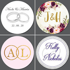 Wedding Stickers Personalised / Envelope Seals / 35 on a sheet - Over 30 designs