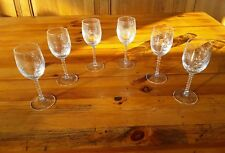 verres  a porto en cristal d'arques modele epi fleury