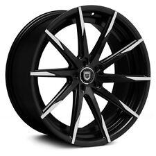Lexani CSS-15 1PC Wheels 22x9 (+40, 5x114.3, 74.1) Black Rims Set of 4