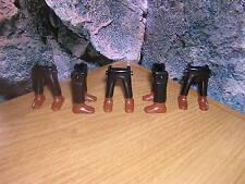 (A 13/3) 5x PIERNAS Negro Marrón Zapatos GUARDIA Soldados ACW OESTE