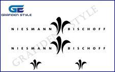 4 Stück NIESMANN BISCHOFF - Wohnwagen Aufkleber - Sticker - Decal !<>!
