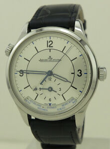 Jaeger LeCoultre Q1428530 Steel Auto 39mm Master Control Sector Dial Geographic