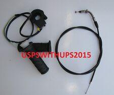 "Pocket Bike Mini Bikes Chopper Throttle Grips cable Ignition Kill Assembly 28"""