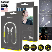 Baseus Silicone Lanyard Airpods Earphone Magnet Fluorescent Sport Neckband Strap