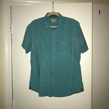1901 Short Sleeved Blue Check Men's Buttondown, Large