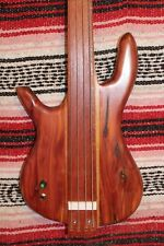 "Left Handed Bass Fretless 4 String Red Cedar Wishbass Short Scale 28"" Piezo PU"
